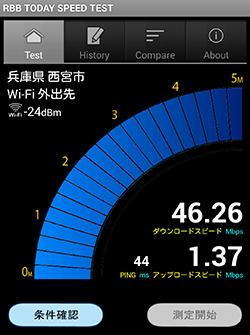 無線LAN帯域切替をするとアナウンス