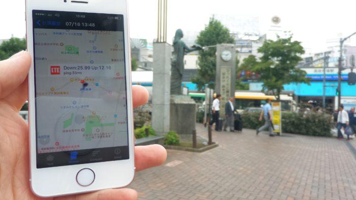 UQモバイルの通信速度-高田馬場駅