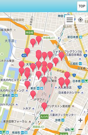 東京駅周辺のフレッツスポット