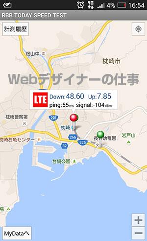 JR枕崎駅ホームで測定