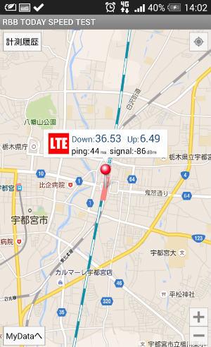 JR宇都宮駅ホームで測定