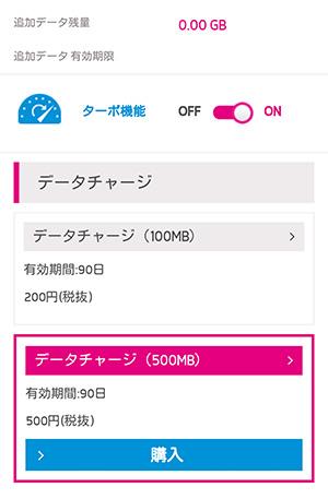 UQモバイル データチャージサイト