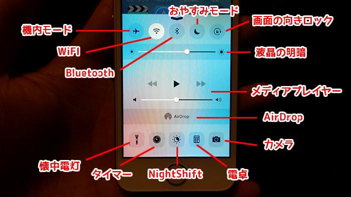 iPhoneSE コントロールセンターの使い方