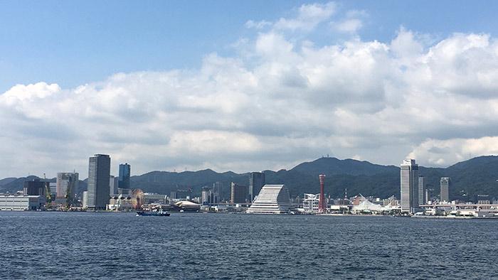神戸ポートアイランドからハーバーランド方面