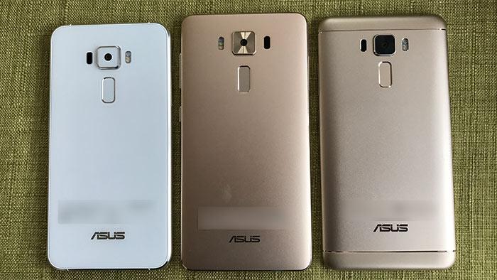 ZenFone3 DeluxeとZenFone3 Laserの背面の違い