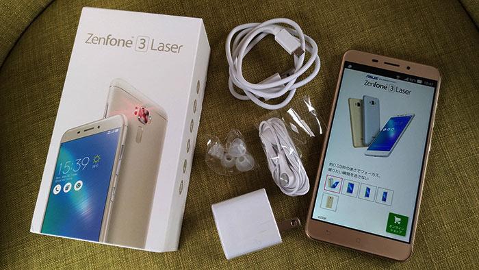 ZenFone3 Laserを箱