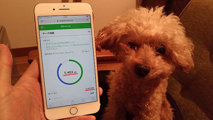 iPhoneでラインモバイルのデータ容量(残量)の確認方法