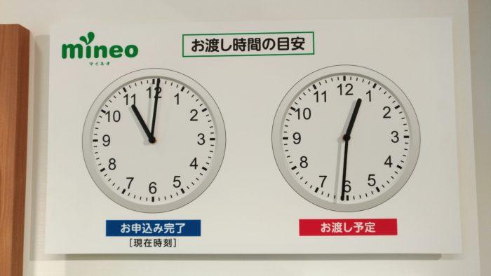 大きな時計が2つ