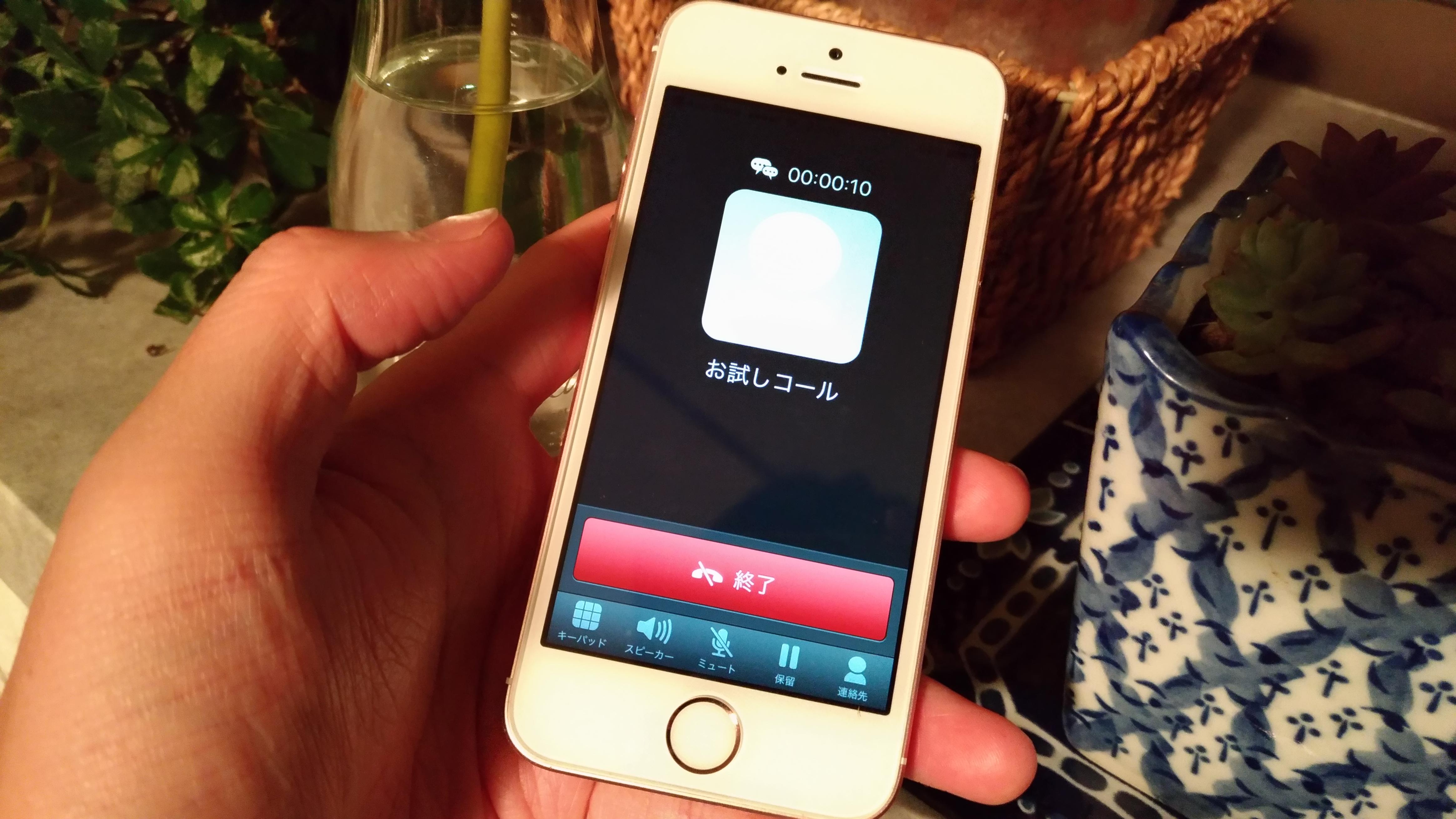 自動音声アナウンスに接続