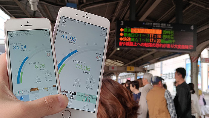UQ mobile・ワイモバイル 通信速度3
