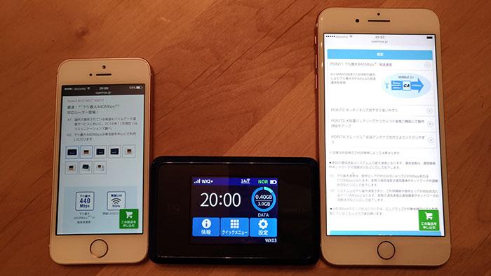 4インチのiPhoneSEより小さいWX03