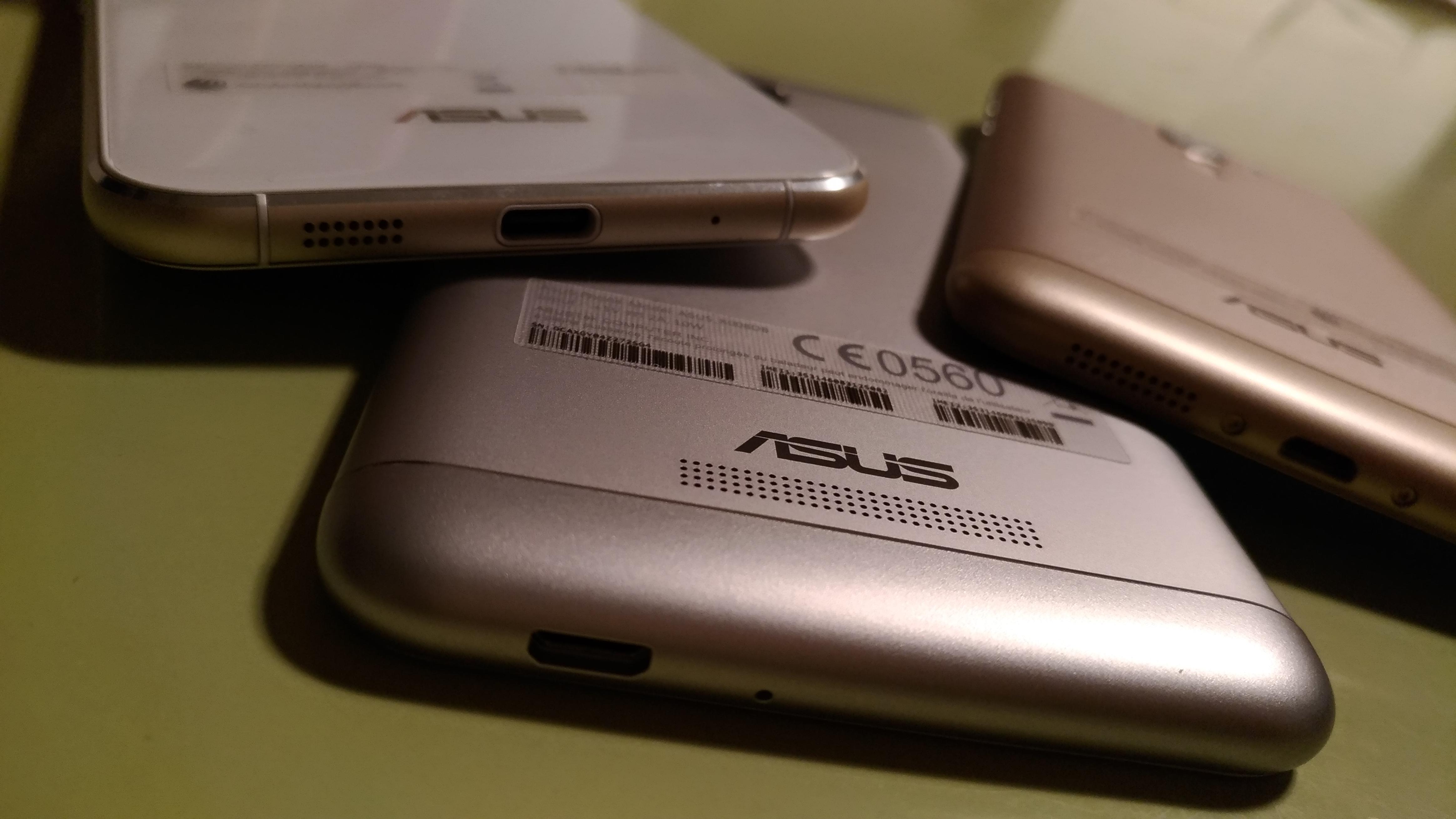 Zenfone 3 シリーズはどれも角が丸くて可愛らしいし