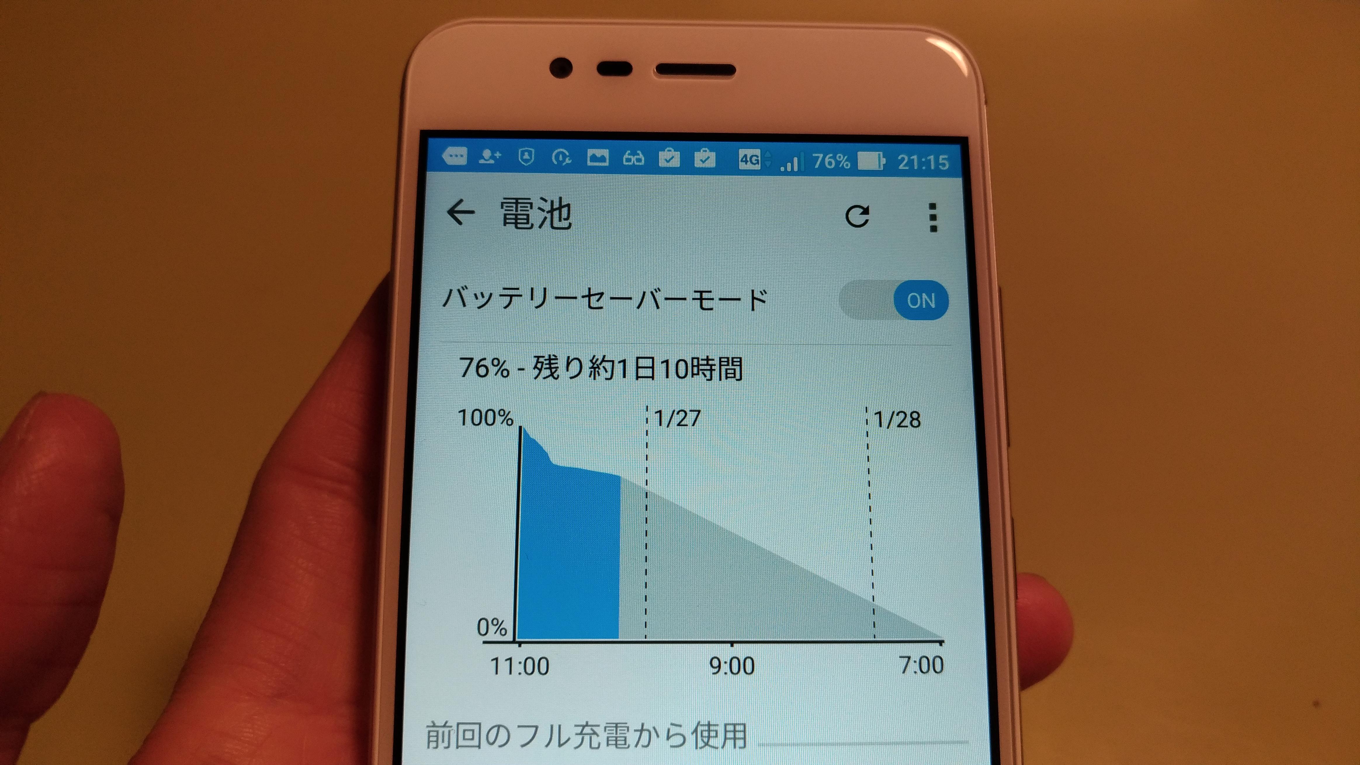 Zenfone 3 Maxのバッテリー稼働時間