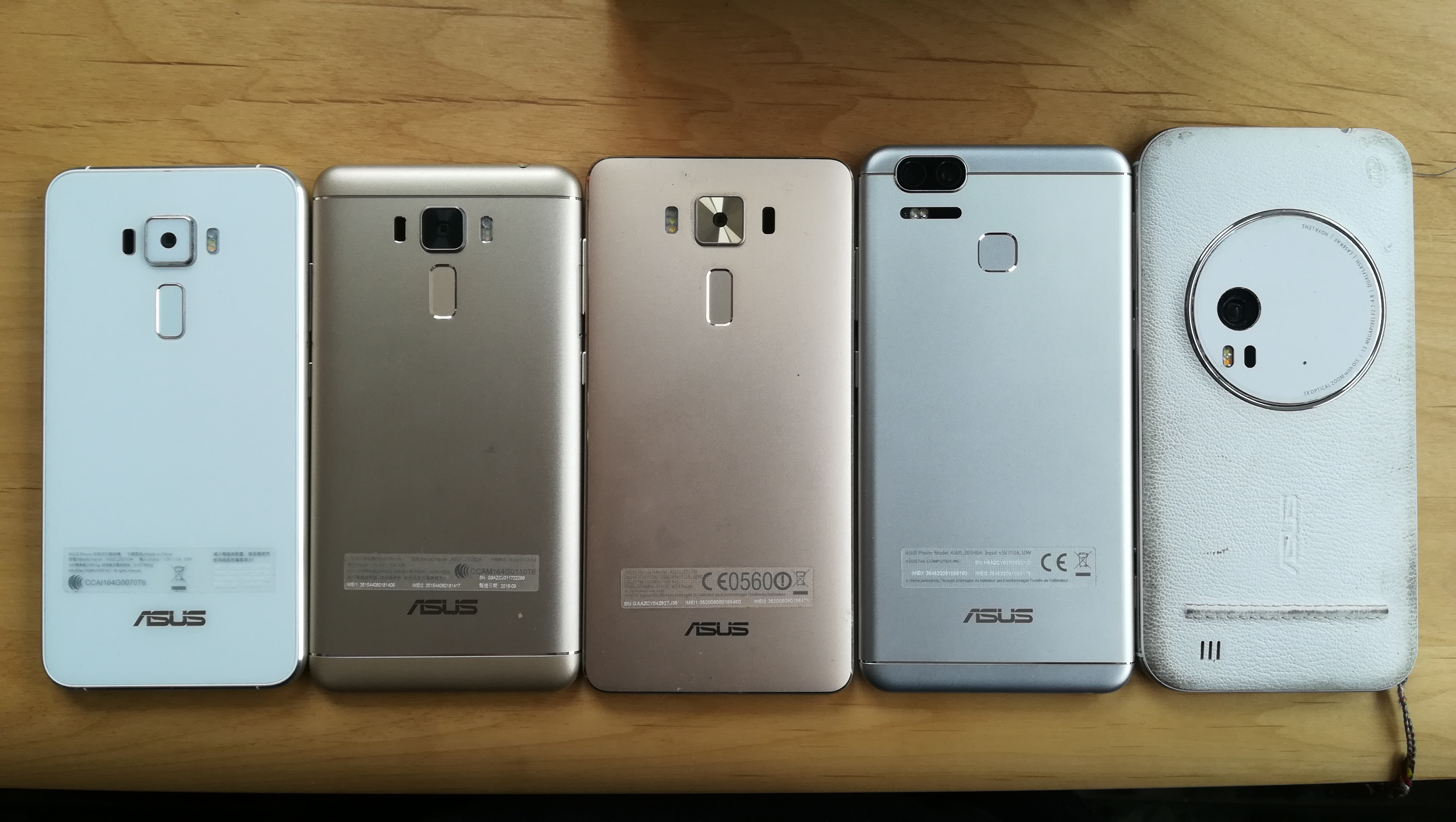 ZenFoneシリーズを並べて比較!