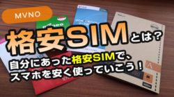「格安SIMって何ですか?」格安SIMを長く使っているので疑問・質問に回答します。