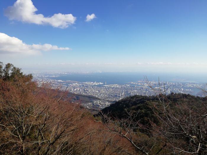 標準撮影で六甲山某所から神戸・芦屋・尼崎・大阪方面
