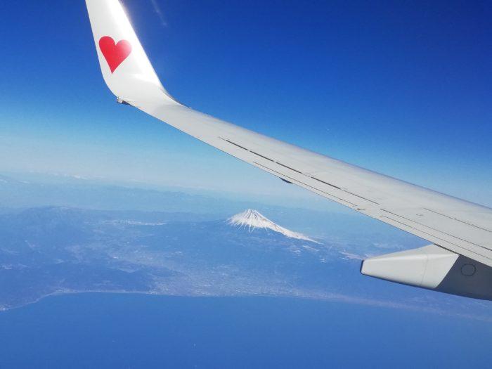 上空から富士山を1倍通常撮影!