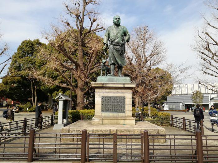 上野公園の西郷どん!