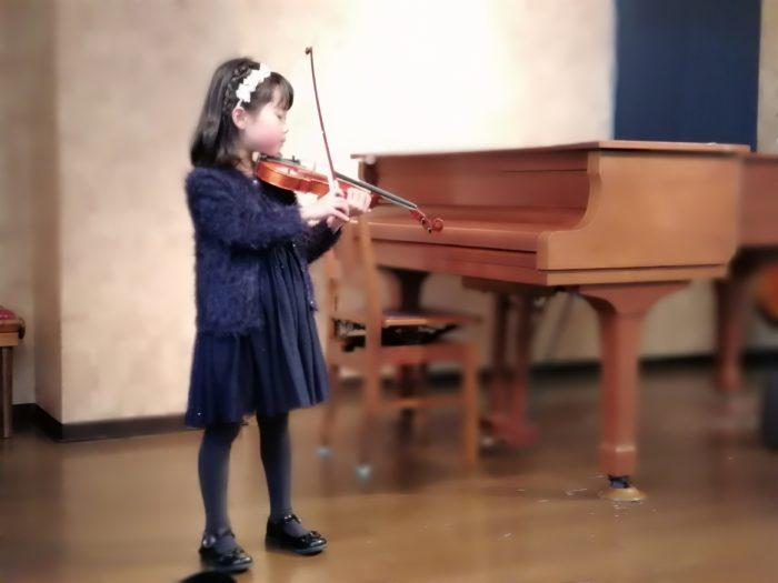 我が子のバイオリンのアンサンブル会