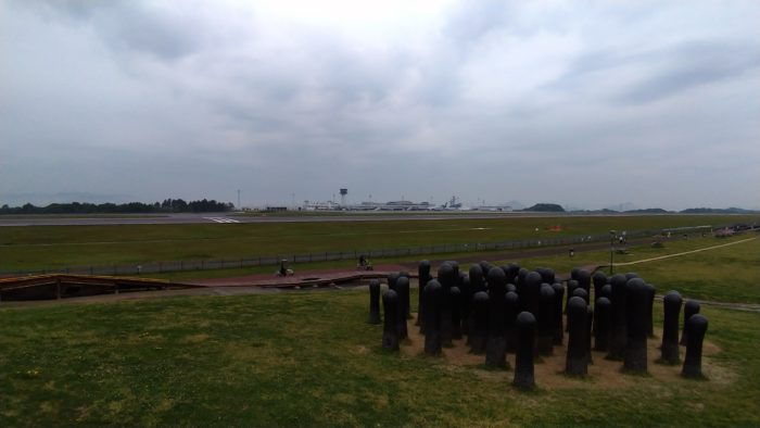 高松空港でヤドンスタンプラリー
