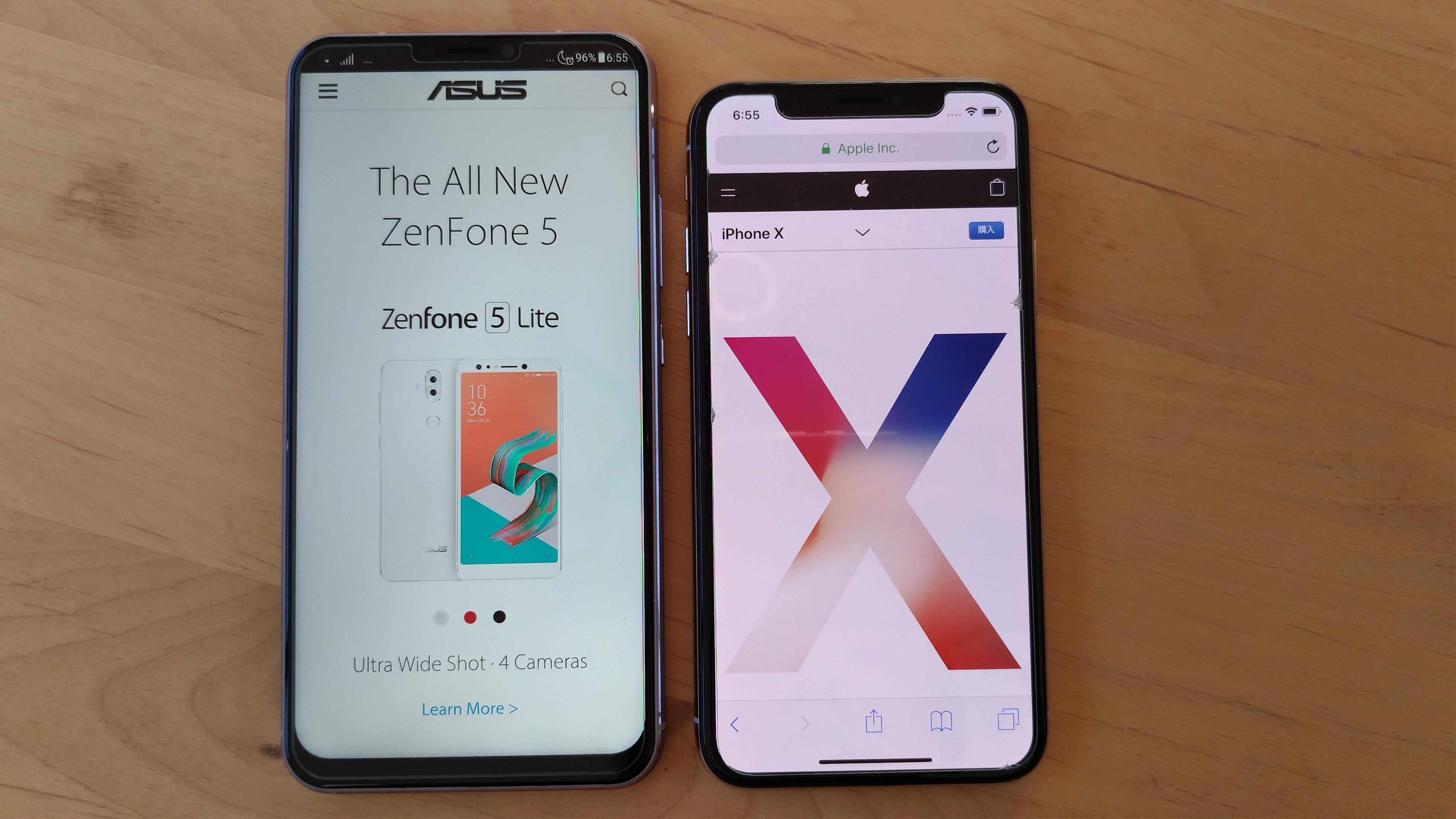 iPhoneXとの大きさ比較(笑)