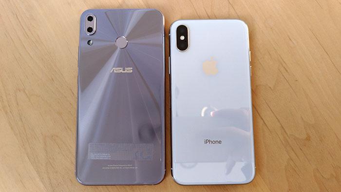 ZenFone5は背面に指紋認証センサー