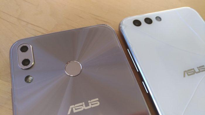 ZenFone 4(右)のカメラ部分