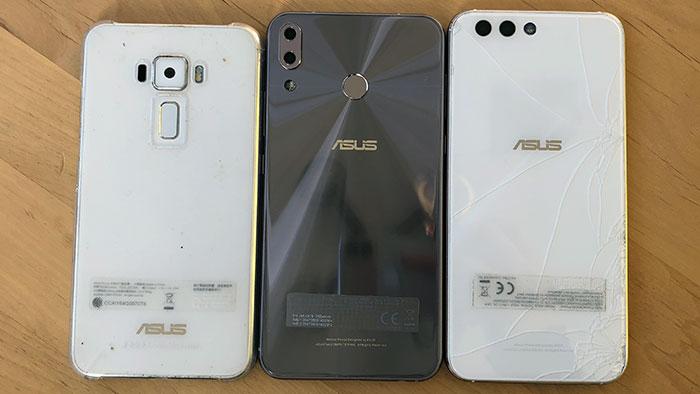 ZenFone 3(5.2)、ZenFone5(6.2)、ZenFone4(5.5)