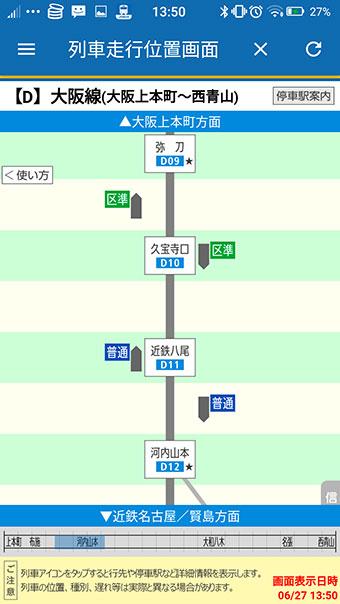列車走行位置