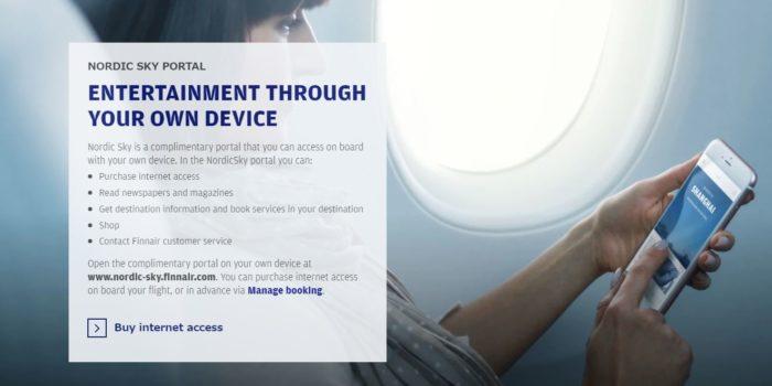 フィンランド航空は機内で有料WiFIが使える!