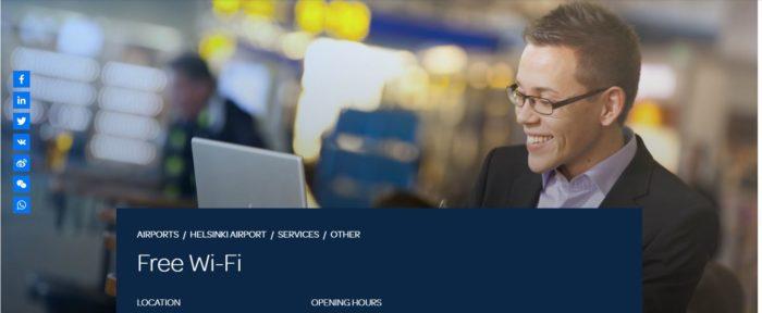 ヘルシンキ空港の無料WiFiを使ってみたよ!