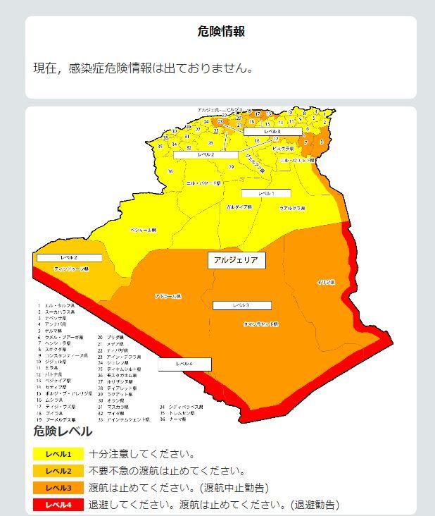 アルジェリアの全体図が表示