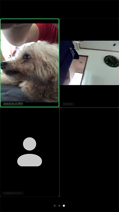 ビデオ通話(ミーティングルーム)画面