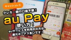 au Payとは?お得なキャンペーン情報・実際に買い物で使ってみてのレビュー!