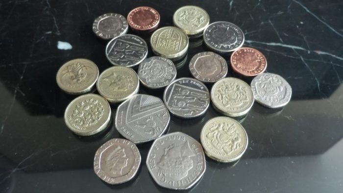 ロンドンの小銭(コイン)