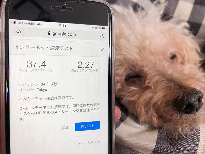 UQモバイルの通信速度を測定!