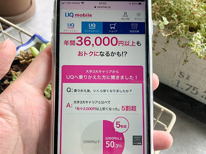 UQモバイルの料金シミュレーター