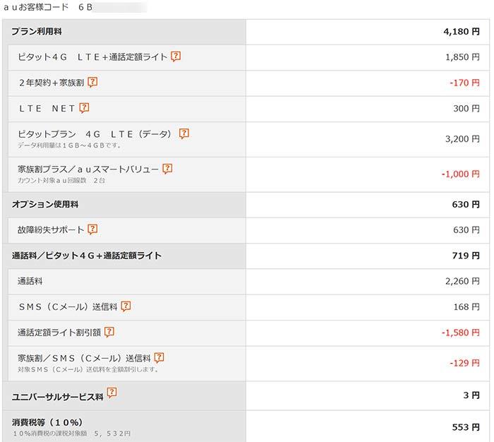 ピタットプラン 6,075円