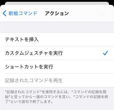 iPhone アクション