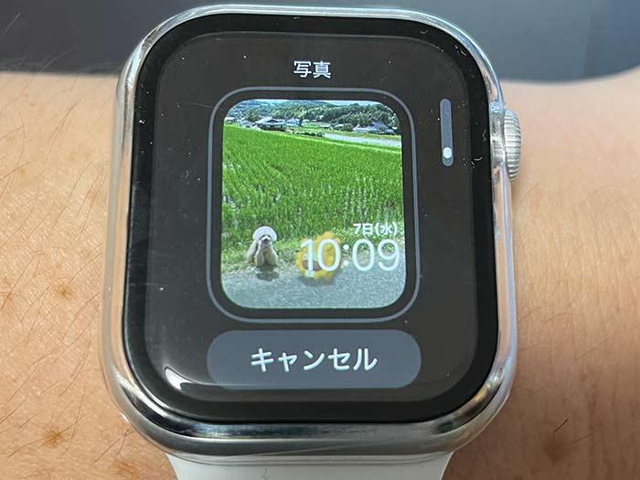 アップルウォッチ 保存してある写真を時計盤