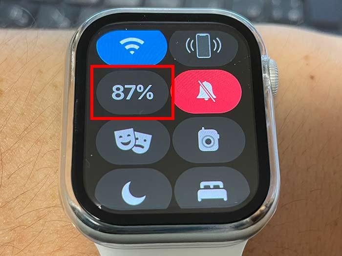 アップルウォッチ バッテリー残量の確認